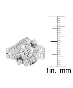 Journee Collection Sterling Silver Wrap CZ Bridal and Engagement Ring - Thumbnail 2