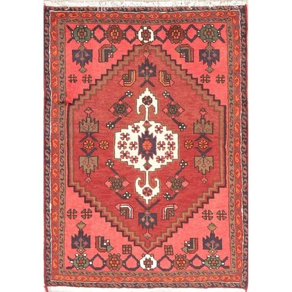 "Hamedan Tribal Oriental Hand Knotted Wool Persian Area Rug - 4'5"" x 3'3"""