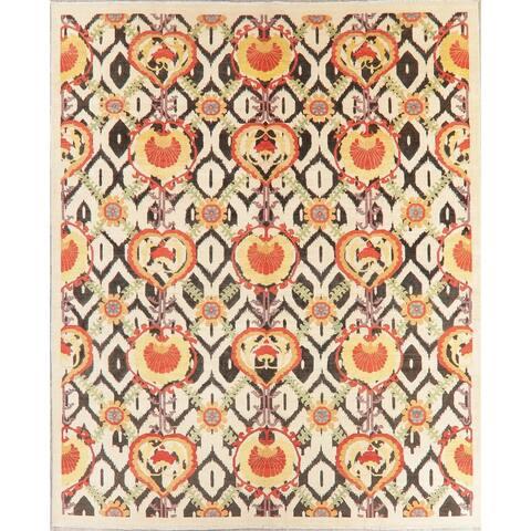 "Kazak-Chechen Tribal Oriental Hand Knotted Wool Pakistani Area Rug - 9'9"" x 8'0"""