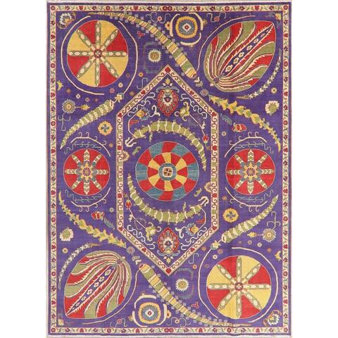 "Kazak Oriental Hand Knotted Wool Pakistani Area Rug - 11'3"" x 8'2"""