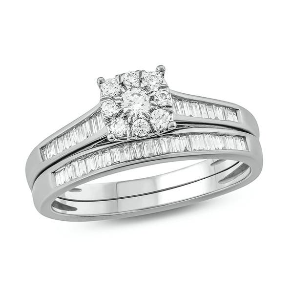 Shop Cali Trove 5 8 Cttw Diamond Bridal Ring Set In 10kt Gold On