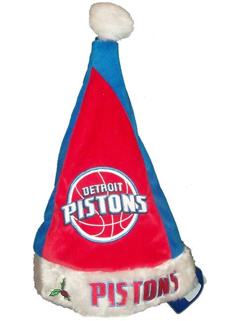 Colorblock Santa Hat - Detroit Pistons