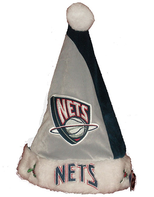 Forever Collectibles New Jersey Nets Colorblock Santa Hat