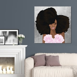 Oliver Gal 'Hair and Makeup' Fashion and Glam Wall Art Canvas Print - Brown, Pink