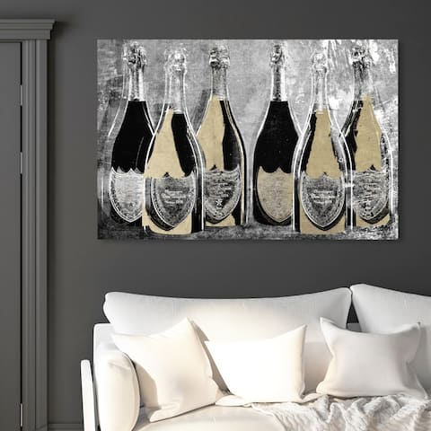 Oliver Gal 'Dom Party Glam' Drinks and Spirits Wall Art Canvas Print - Gold, Black