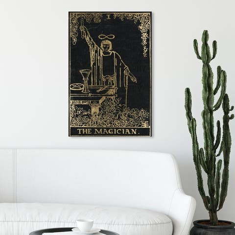 Oliver Gal 'The Magician Tarot' Spiritual and Religious Wall Art Canvas Print - Black, Gold