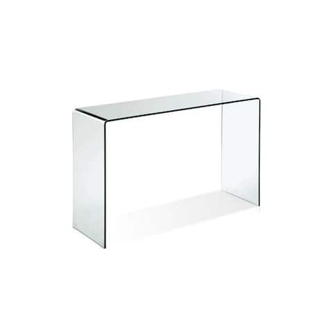 Waterfall Glass Console - White - N/A