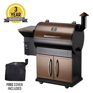 Z Grill ZPG-700D 8 in 1 Pellet Grill & Storage Cabinet Bronze & Black