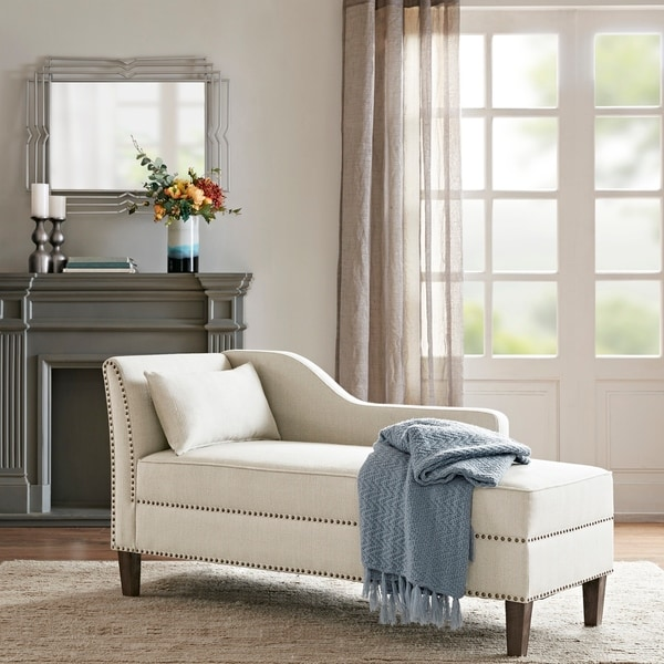 Madison Park Brett Ivory Accent Chaise