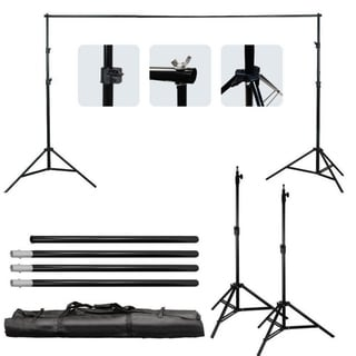 10Ft Adjustable Photography Video Background Support Stand Kit w/Carry Bag