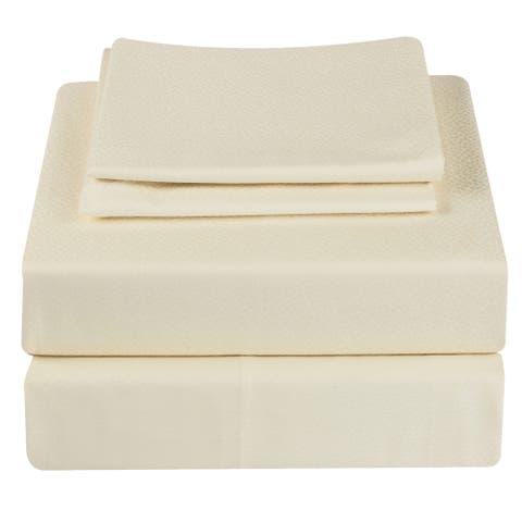 400 TC 100% Egyptian Quality Cotton, King Bedding 4 Piece Sheet Set with Extra Deep Pocketed Fitted Sheet