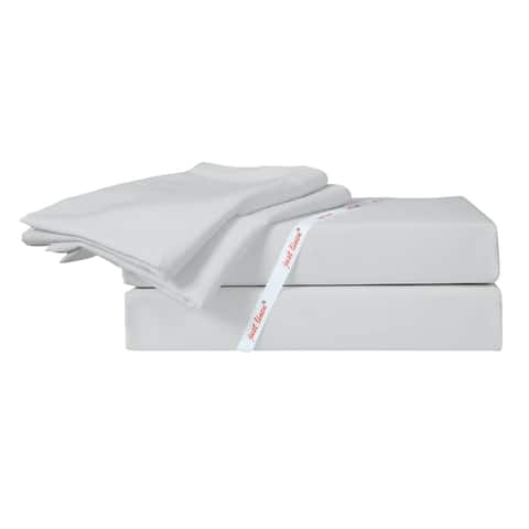 350 TC 100% Cotton Sateen, Full Bedding 4 Piece Sheet Set with Deep Pocketed Fitted Sheet