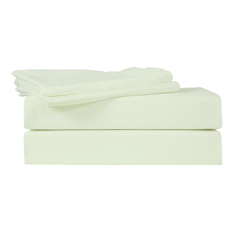 Just Linen 400 Thread Count 100% Egyptian Quality Cotton Sateen, Solid Meadow MistColor, Pack Of 4 Queen Pillow Cases