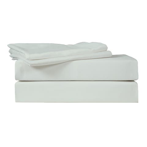 Just Linen 400 Thread Count 100% Egyptian Quality Cotton Sateen, Solid Blue Fox Color, Pack Of 4 Queen Pillow Cases