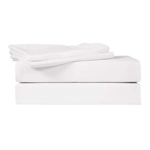 400 TC 100% Egyptian Quality Cotton Sateen,Queen Bedding 4 Piece Sheet Set with Deep Pocketed Fitted Sheet