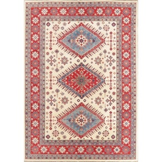 "Kazak Diamond Oriental Hand Knotted Wool Pakistani Area Rug - 13'11"" x 10'1"""