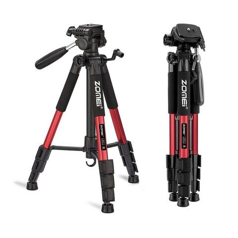 "55"" Photography Kit Aluminum Alloy Tripod Non-slip Rubber 3 Color"