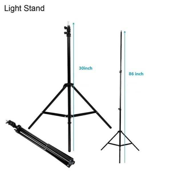 Photography Softbox Lighting Kit Carrying Bag 24X24 Professional Photo Studio Soft Box Lights with 86 Light Stand and 65W LED Lamp