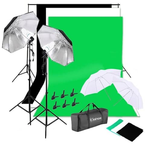 135W Non-woven Background Umbrella Photography Continuous Lighting Kit