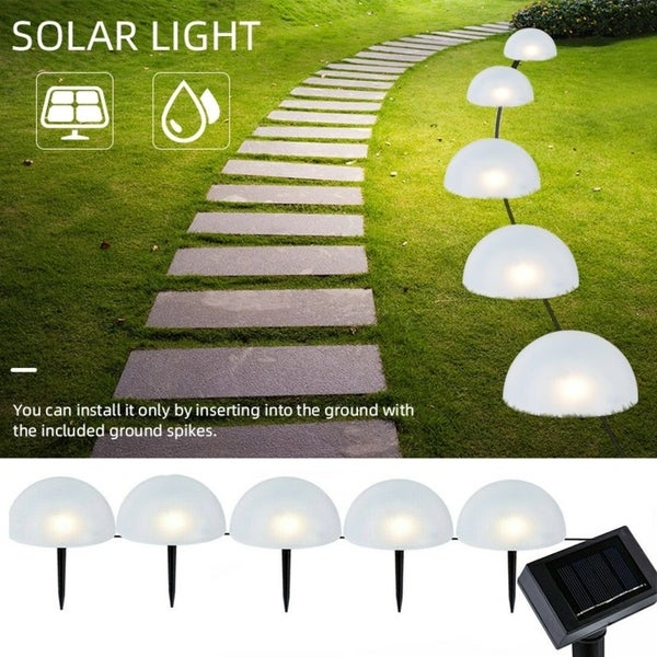 4 LED Solar Power Pathway Lights 2 PCS Ground Lamp Outdoor Path Garden Light
