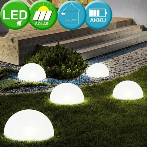 2PCS 5 LED Solar Power Lamps Outdoor Waterproof Ground Light with Built-in Lithium Battery for Garden Patio Yard