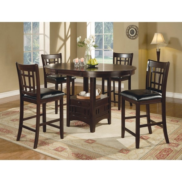 Danford Black and Espresso 7-piece Counter Height Dining Set