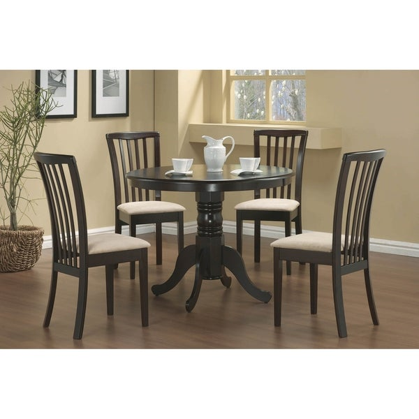Tilly Cream and Cappuccino 5-piece Dining Set