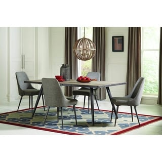 Linzey Grey and Weathered Grey 5-piece Dining Set