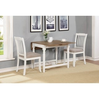 Yvette Pale Ale and White 5-piece Dining Set with Drop Leaf