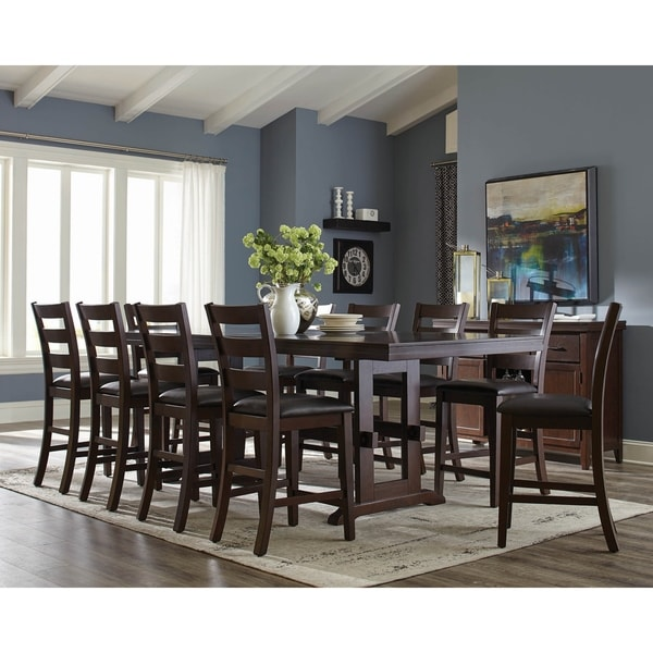Parmenter Antique Tobacco 9-piece Counter Height Dining Set