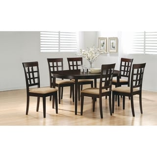 Missell Beige and Cappuccino 7-piece Oval Dining Set