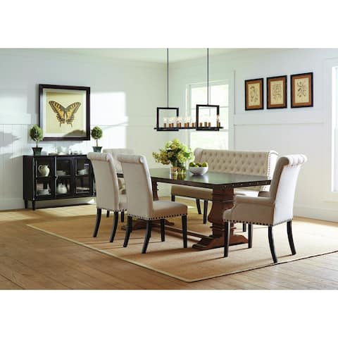 Chelsea Cream and Rustic Amber 7-piece Dining Set