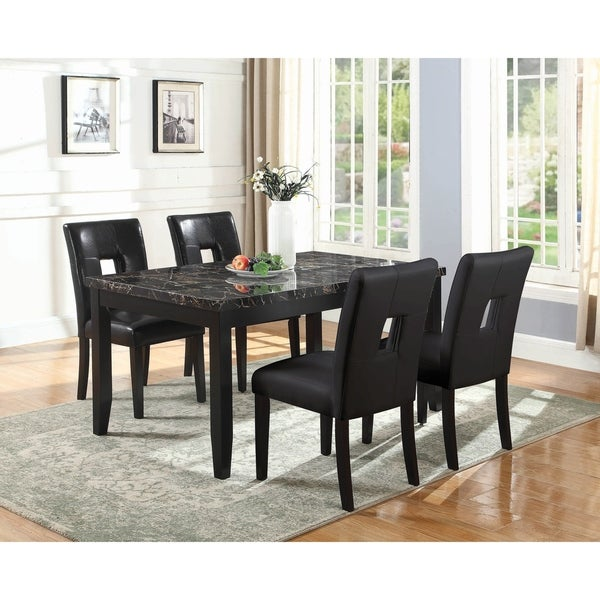 Arden 5-piece Upholstered Rectangle Dining Set