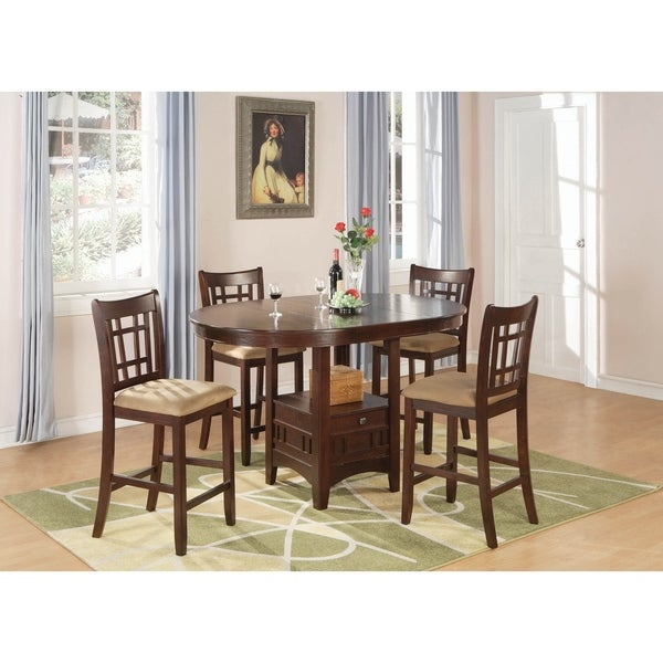 Danford Tan and Warm Brown 7-piece Counter Height Dining Set