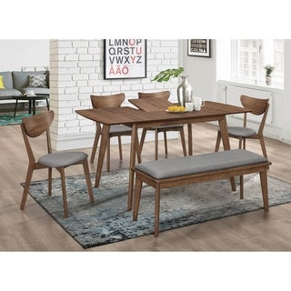 Shorna Grey and Natural Walnut 7-piece Dining Set