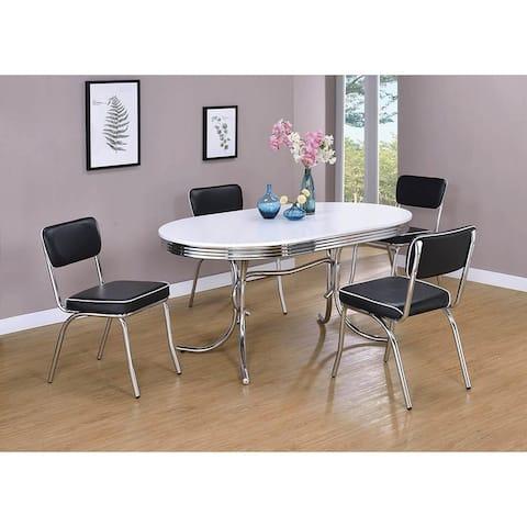 Parlisse 5-piece Oval Dining Set