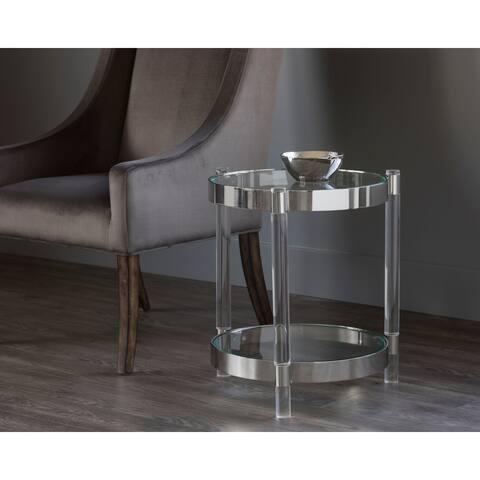 Sunpan 102612 York Side Table - Lucite