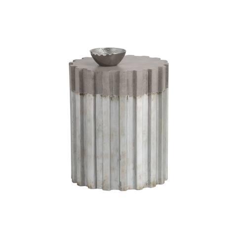 Sunpan 103375 Pele Pedestal - Silver And Natural Finish