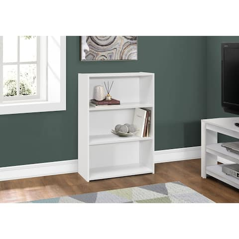 """Bookcase - 36""""H / White With 3 Shelves"""