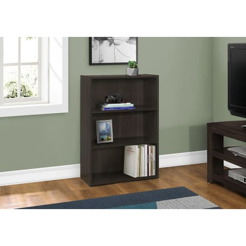 """Bookcase - 36""""H / Cappuccino with 3 Shelves"""