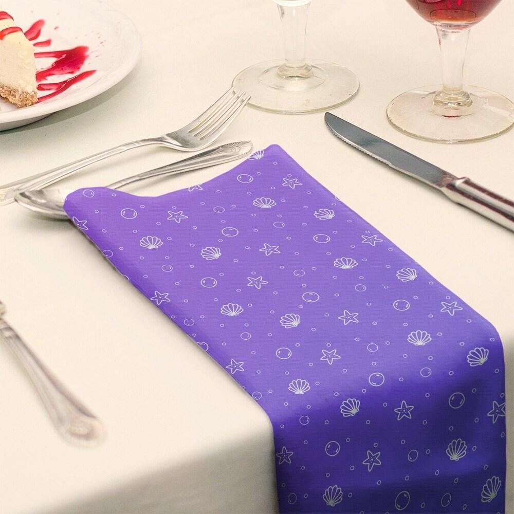 Shop Seashell Pattern Napkin - Overstock - 28527754