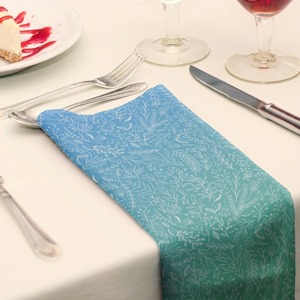 Shop Ombre Ditsy Floral Pattern Napkin - Overstock - 28527773