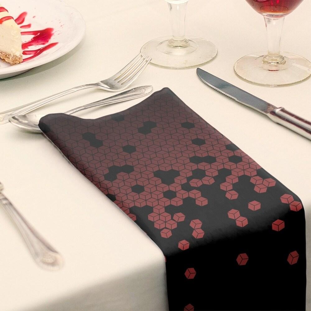 Shop Tumbling Cube Pattern Napkin - Overstock - 28527776