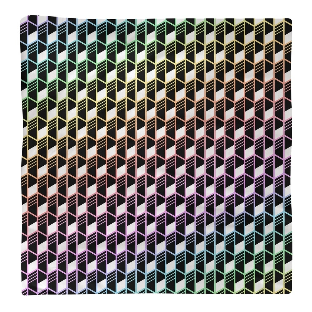 Shop Ombre Geometric Stripes Napkin - Overstock - 28527779