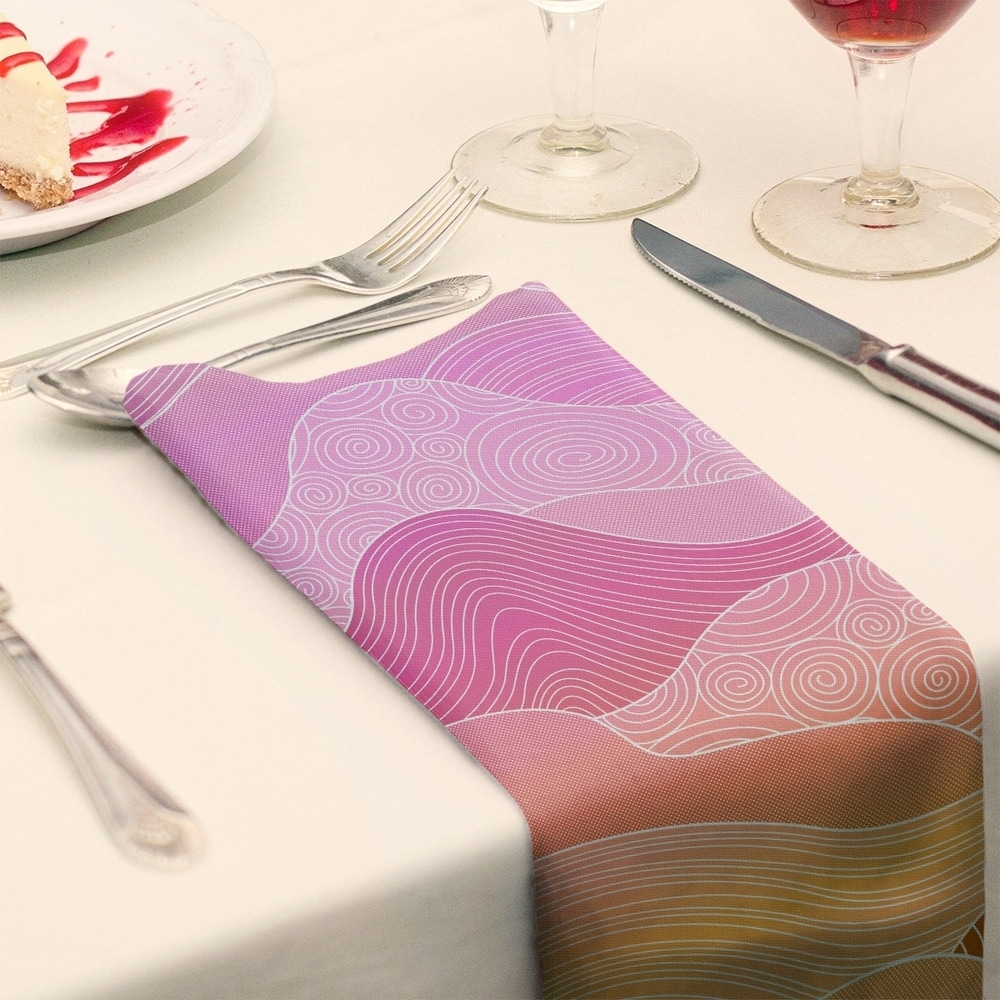 Shop Ombre Hand Drawn Waves Napkin - Overstock - 28527781