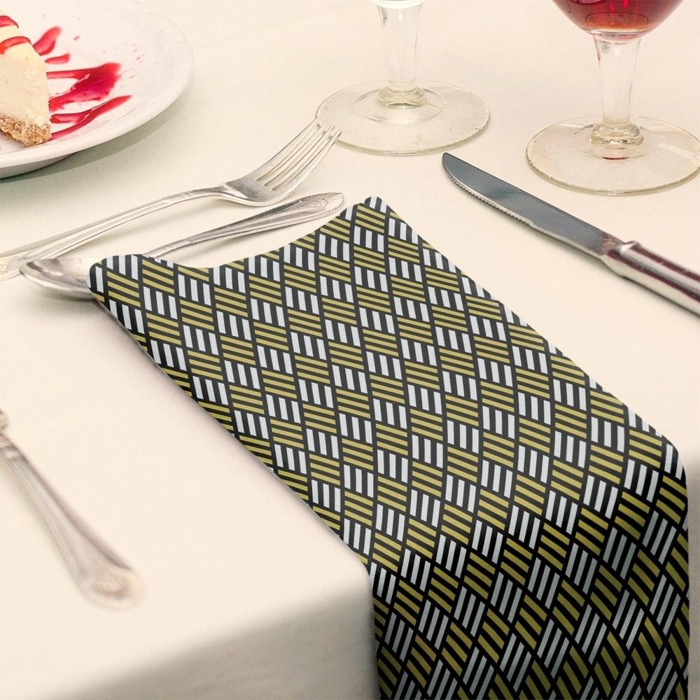 Shop Classic Stripe Diamonds Napkin - Overstock - 28527814