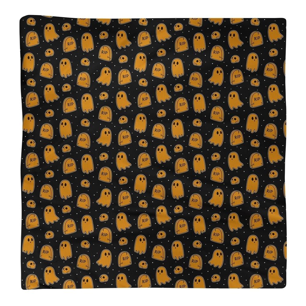 Shop Black Background Ghosts Pattern Napkin - Overstock - 28527839