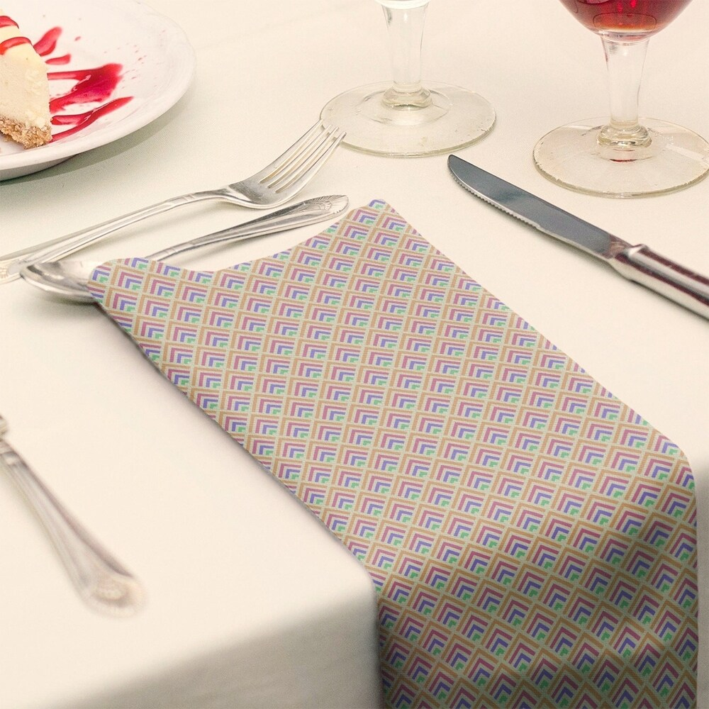 Shop Multicolor Geometric Ombre Pattern Napkin - Overstock - 28527846