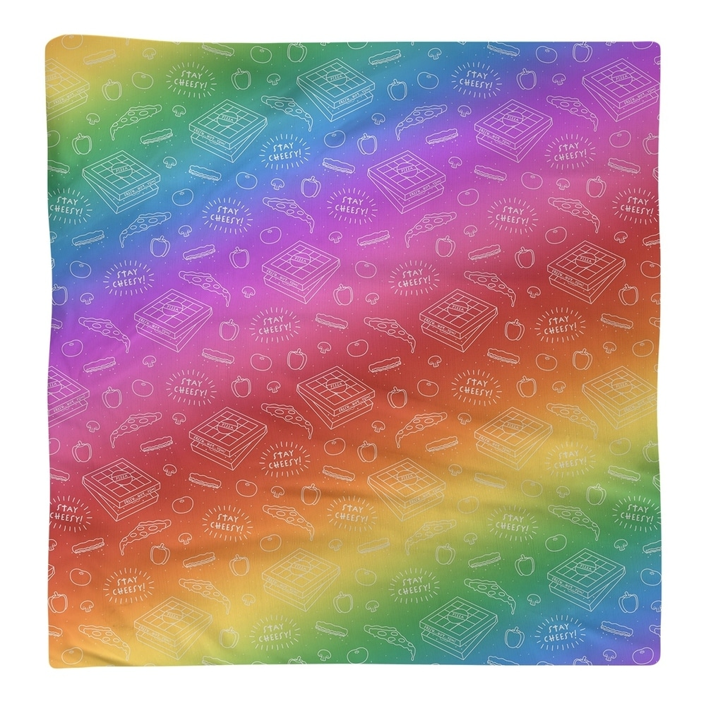 Shop Color Background Pizza Pattern Napkin - Overstock - 28527860
