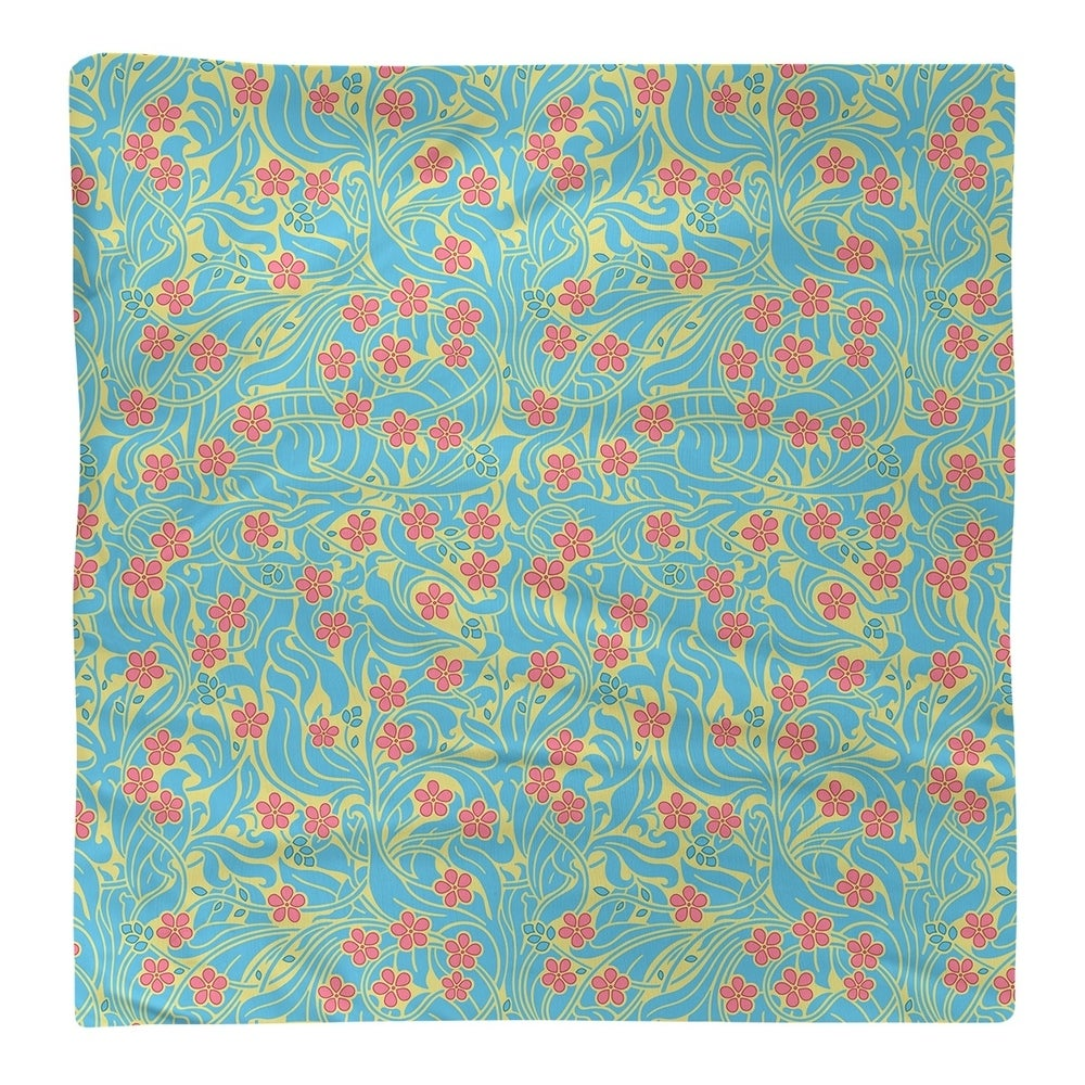 Shop Swirly Floral Pattern Napkin - Overstock - 28527870